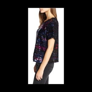 NWT Sanctuary Holiday Sequin Top